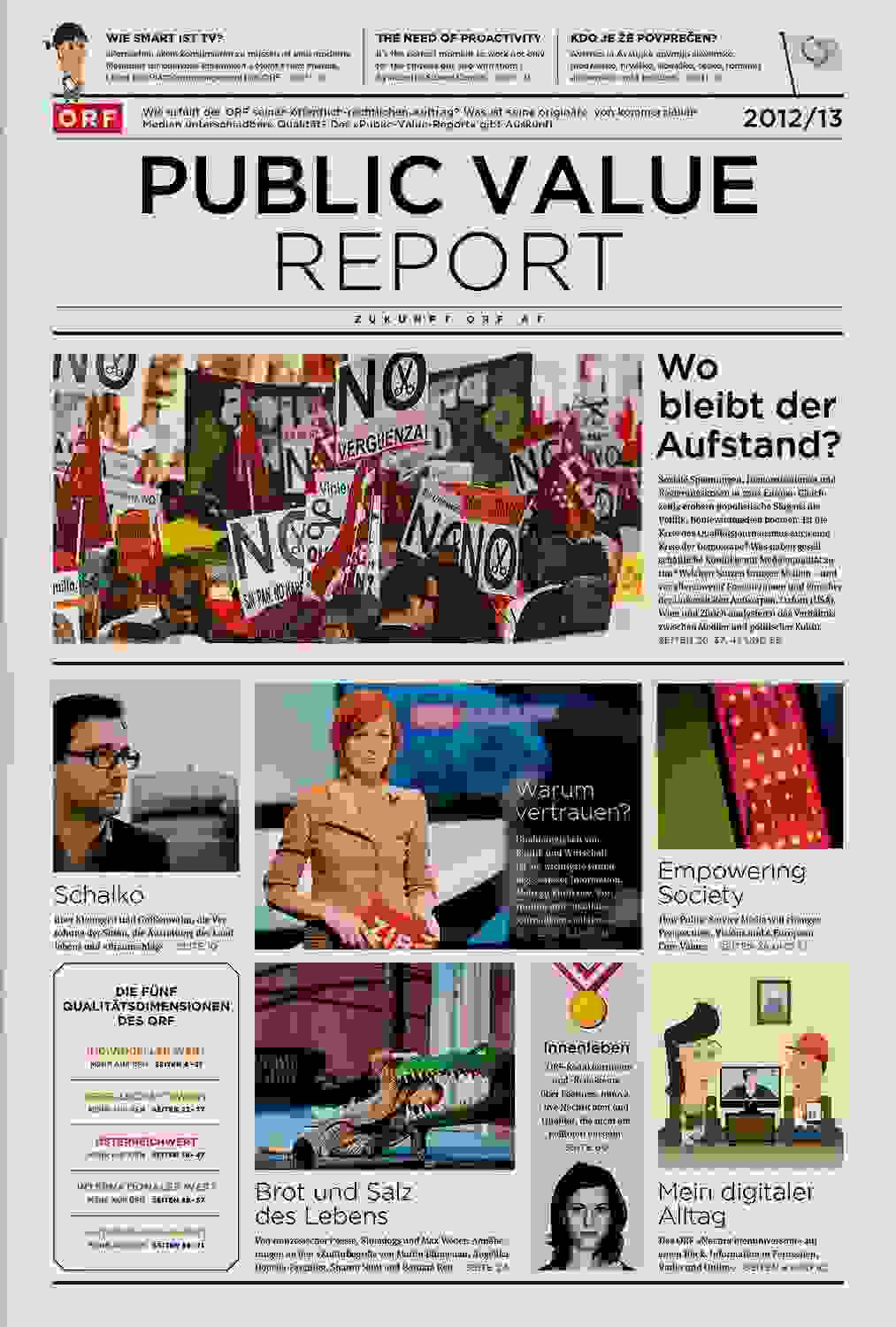 ORF PV 13 flat Dummy Zeitung Cover