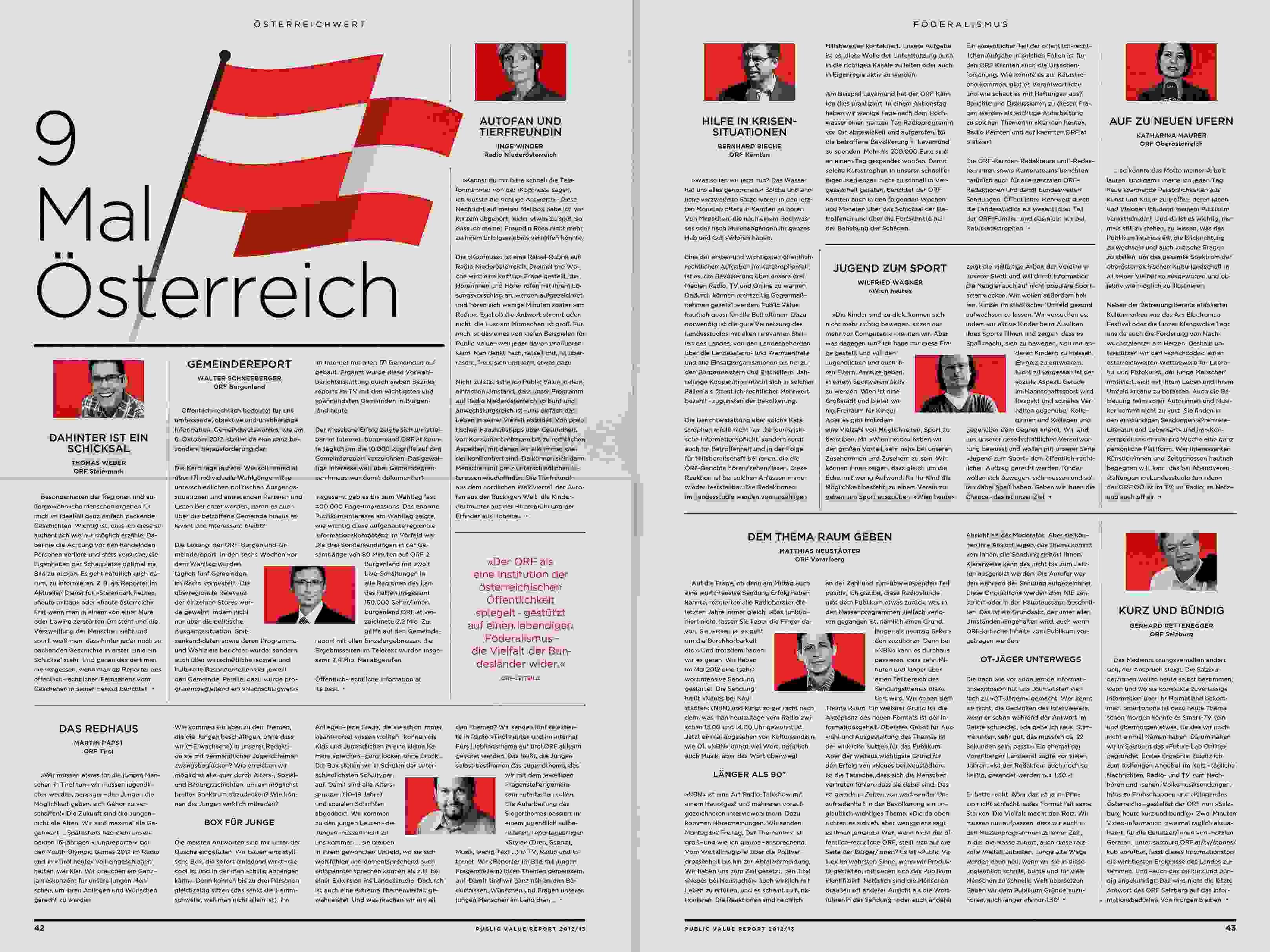 ORF PV 13 flat Dummy Zeitung Doppelseite 13